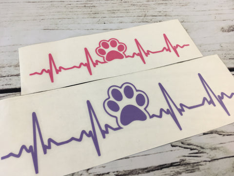 Two Dog EKG Decals