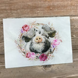 Pig Glass Cutting Board Marble