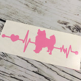 Papillion Ekg Vinyl Decal