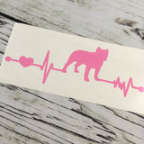 Pitbull Ekg Vinyl Decal