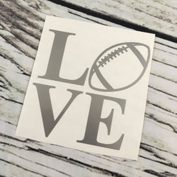Love Football Sports Decal