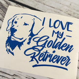 I Love My Golden Retriever Decal