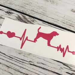 Beagle Ekg Vinyl Decal