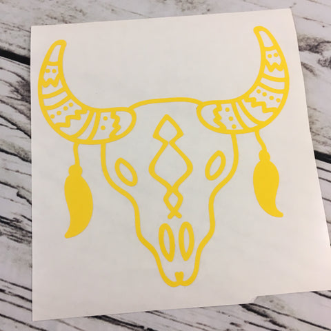 Steer Skull Vinyl Decal