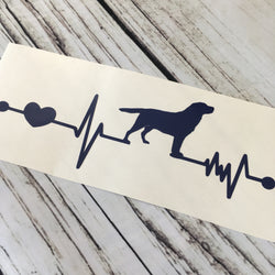 Labrador Ekg Vinyl Decal