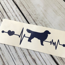 Golden Retriever Car Decal