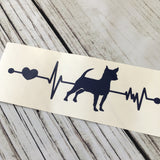 Chihuahua Ekg Car Decal