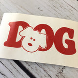Dog Decal