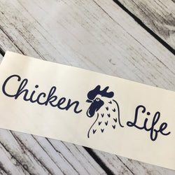 Chicken Life Car Decal