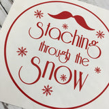 Staching through the Snow Christmas Decal