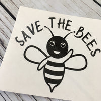 Save the Bees Vinyl Decal