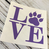 Cat Pawprint Love Car Decal