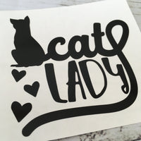 Cat Lady Vinyl Decal