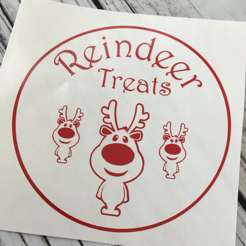 Reindeer Treats ~ Christmas Plate Decal