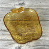 Vintage Hazel Atlas Amber Apple Glass Dish