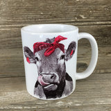 Cow with Bandana 11 oz Mug