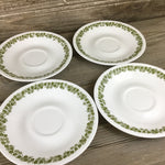 Set of 4 Corelle Spring Blossom Saucers approx. 6.25""