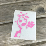 Colorful Giraffe Vinyl Decal
