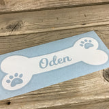 Personalized Dog Bone Decal