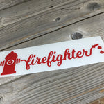 Firefighter Fire Hydrant Vinyl Decal