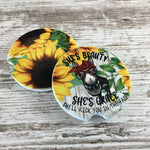 Vintage Handmade Framed Fabric Picture Winter Cardinals Snow Colonial