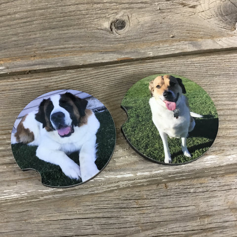 Personalized Car Coasters