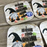 Gnome Fall Coasters Set of 4