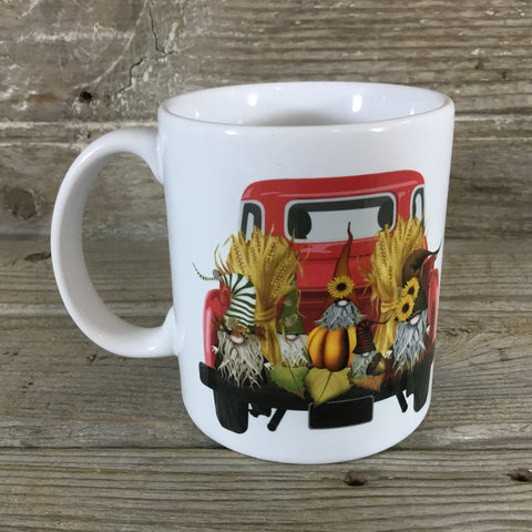 Fall Gnomes Vintage Truck 11 oz Coffee Mug