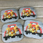 Fall Gnomes Vintage Truck Coasters Set of 4
