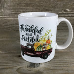 Thankful and Grateful 11 oz Fall Coffee Mug