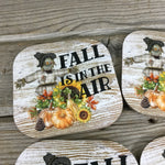 Fall is in the Air Scarecrow Coasters Set of 4