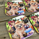 Dog Days of Summer Coasters Set of 4