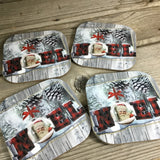 Noel Christmas Coasters Set of 4