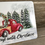 Countdown to Christmas Red Truck Dry Erase Board