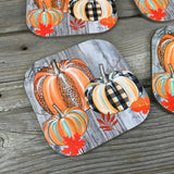Trio of Pumpkins Coasters Set of 4