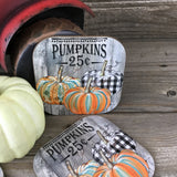 Pumpkins 25 cents Coasters Set of 4