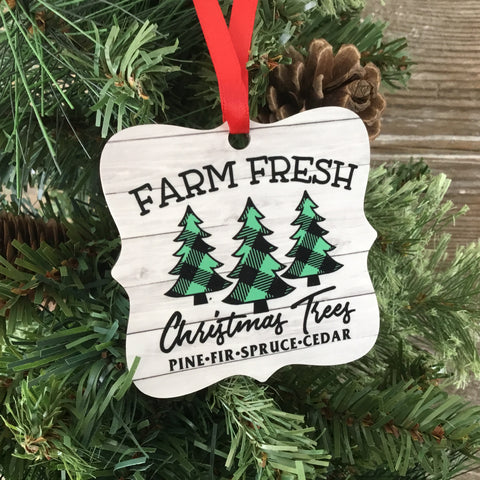Farm Fresh Christmas Trees Christmas Ornament