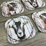 Rustic Goat Coasters Set of 4