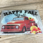 Happy Fall Y'all Glass Cutting Board