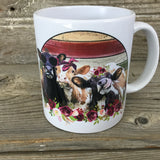 Trio of Heifers 11 oz Cow Mug