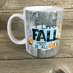 Gnomes I Love Fall Most Of All Coffee Mug 11 oz