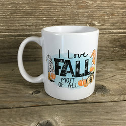 Gnomes I Love Fall Most Of All Mug 11 oz