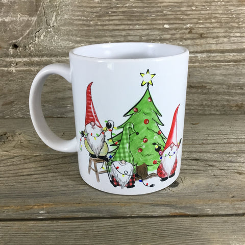 Christmas Gnomes Mug 11 oz