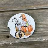 Fall Gnomes Car Coasters