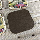 Rustic Farm Coasters Set of 4