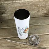 Winter Snowflake Adult Humor 20 oz Skinny Tumbler with Straw & Lid
