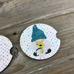 Sunflower Gnomes Car Coasters
