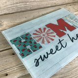 Home Sweet Home Glass Cutting Board