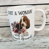 Just a Woman that Loves Basset Hounds 11 oz Coffee Mug