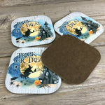 Trick or Trick Halloween Coasters Set of 4